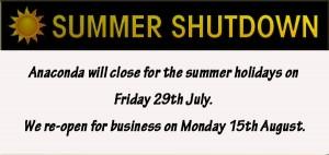Anaconda summer-shutdown-2016