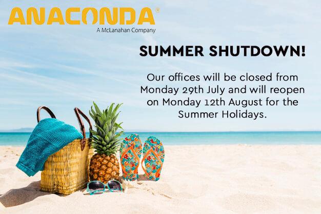Anaconda Equipment Summer Shutdown Details.