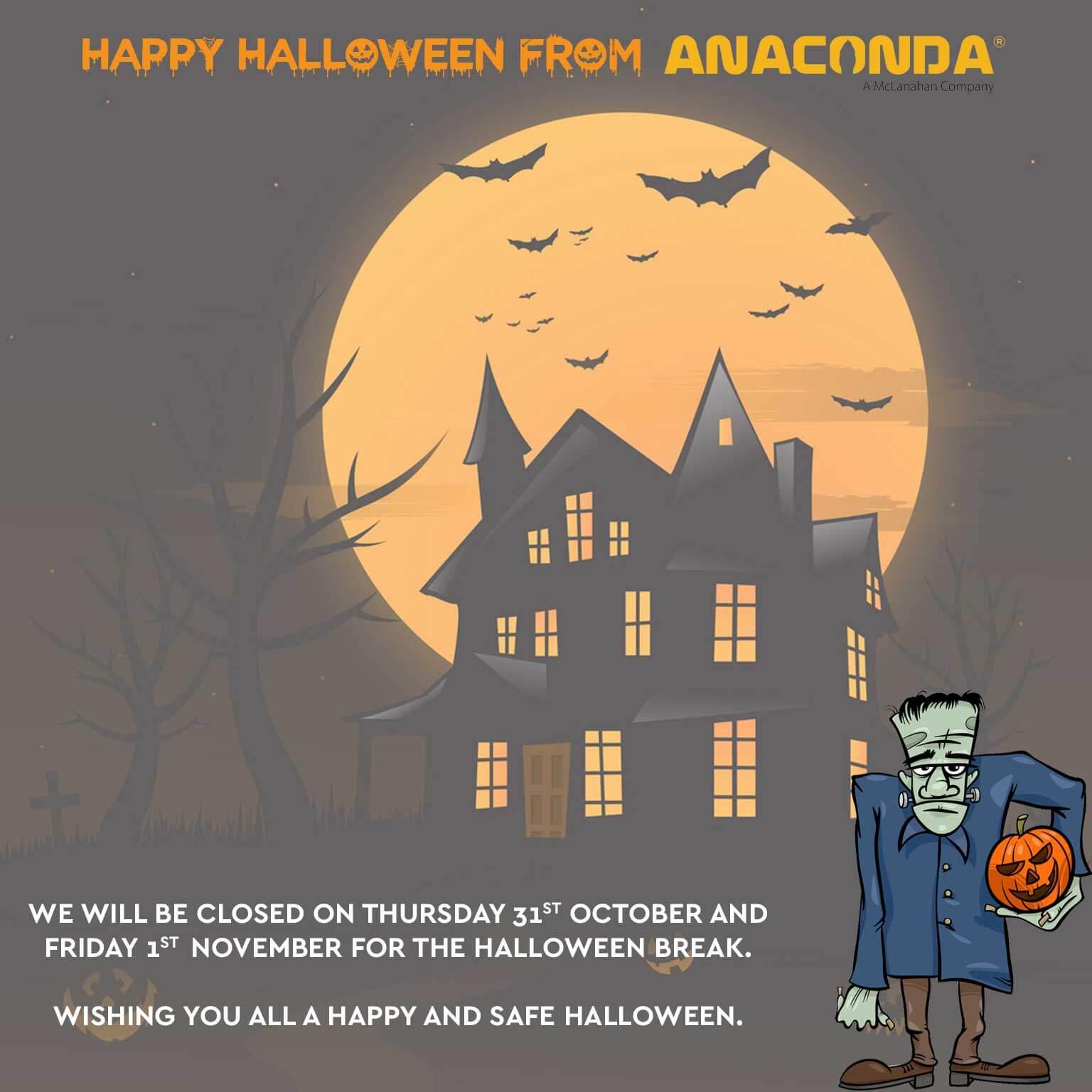 Anaconda Equipment - Halloween Break Closure 2020